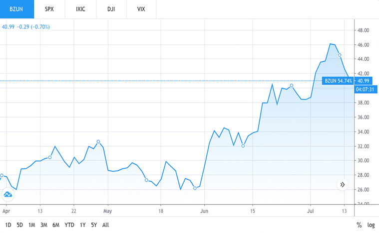 tech stocks to buy (BZUN stock)