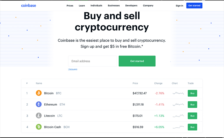 Coinbase IPO (COIN stock price)