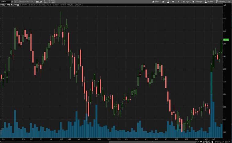 top growth stocks to watch (DOCU stock)